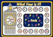 English Worksheet: TELLING THE TIME - BOARD GAME (PART ONE)