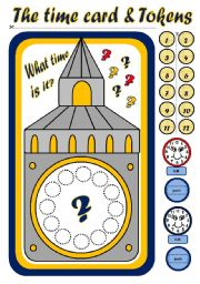 English Worksheet: TELLING THE TIME - BOARD GAME (PART 2)