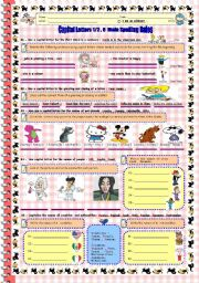 Capital Letters , 8 Main Spelling Rules . (2 worksheets in one file )