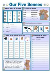 English Worksheet: Our Five Senses