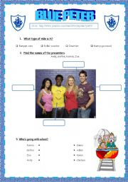 English Worksheets: Rollercoasters