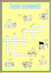 English Worksheet: house crosswords