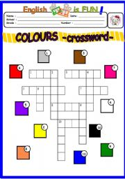 Colours -crossword puzzle