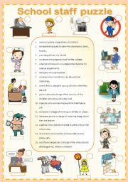 School staff puzzle 3/3