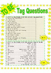 English Worksheets: You like tags, don�t you?