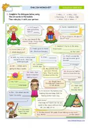 English Worksheet: Dialogue series  - Asking for specific information - wh-questions