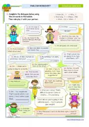 English Worksheets: Dialogue series - Asking for specific information -  Wh-Questions