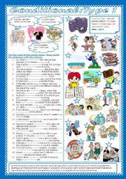 English Worksheet: Conditional type 1(+Key)