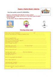 English Worksheet: Charlie Brown�s Valentine