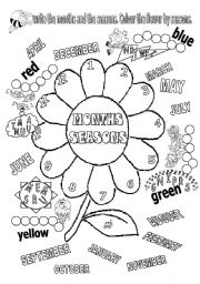 English Worksheet: MONTHS AND SEASONS