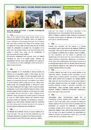 English Worksheet: How human actions modify the natural environment 1/2