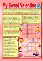 English Worksheet: Valentine´s Day (Reading about its history + vocabulary)