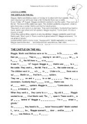 English Worksheets: Reading Comprehension: The castle on the hill
