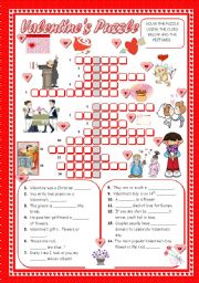 English Worksheet: VALENTINE´S PUZZLE