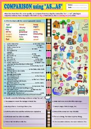 English Worksheet: Comparison using