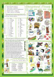 English Worksheet: Compound Nouns(+ Key)
