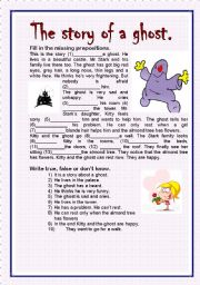English Worksheets: The story of a ghost.