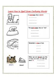 English Worksheets: How to spell confusing words (2)