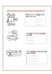 English Worksheets: How to spell confusing words