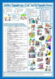 English Worksheet: Genitive/Possessive case:( � ) or( �s )and the possessive pronouns(+ Key)