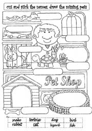 English Worksheets: THE PET SHOP