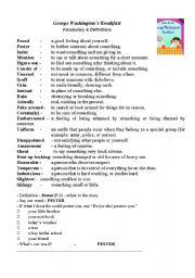 English teaching worksheets: George Washington