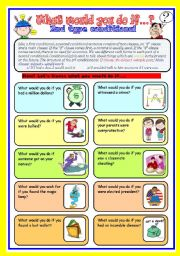 conditional (2): what would you do if...? speaking cards