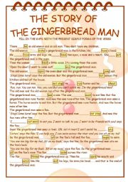 Bright image with regard to gingerbread man story printable