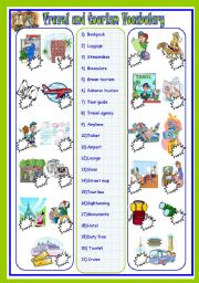 English Worksheet: travel and tourism vocab