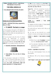 English Worksheets: ROLE PLAY- ENVIRONMENTAL ISSUES /SCIENTIFIC DEVELOPMENT-THE WORLD AROUND US