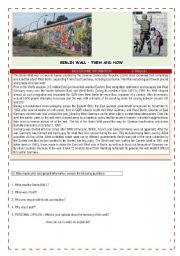 English Worksheets: FREEDOM - BERLIN WALL FALL