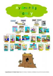 English Worksheets: My Family - Classroom Poster for Speaking
