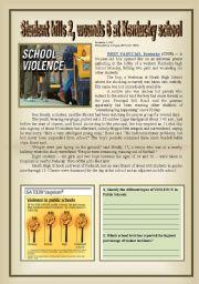English Worksheet: School Violence