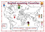 English Worksheets: ENGLISH SPEAKING COUNTRIES *** 8 pages***