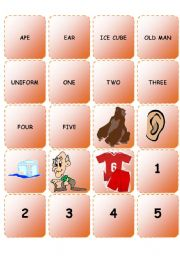English Worksheets: Memory games