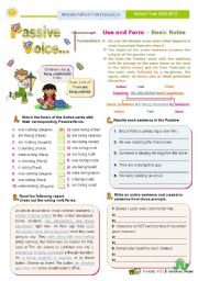 English Worksheets: Introducing the Passive Voice Series (2)  - Present Continuous plus  Past Continuous
