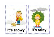 English Worksheets: Seasons and Weather Flash Cards ( 8 cards in 4 pages )