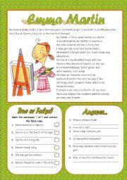 English Worksheets: EMMA MARTIN