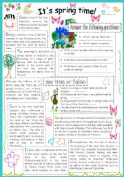 English Worksheets: It�s Spring time!