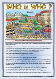English Worksheet: WHO is WHO