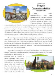 English Worksheet: Prague: the mother of cities