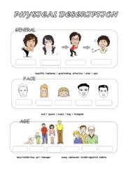 English Worksheet: Physical Appearance (1)