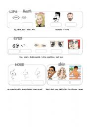 English Worksheet: Physical Appearance (2)