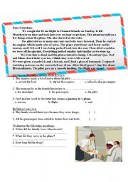 English Worksheets: A letter to grandma