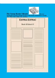 English Worksheets: Funny Bones Newspaper Have your students become Reporters Artists and Publishers
