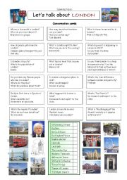 English Worksheets: Let�s talk about LONDON