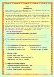 English Worksheets: reading comprehension worksheets