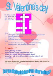 English Worksheet: St. Valentines day.