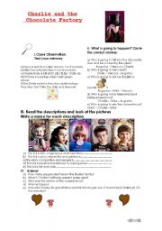 English Worksheet: Charlie and the Chocolate Factory (2005) Student�s Worksheet