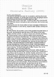 English worksheet: Charlie and the Chocolate Factory (2005) Teacher´s Worksheet + Answer Key
